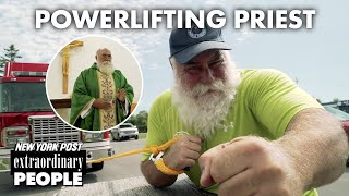 Powerful priest pulls a fire truck with his heavenly muscles | New York Post