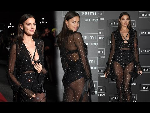 Irina Shayk displays Her Cleavage she walks the red carpet at Intimissimi On Ice in Italy thumbnail