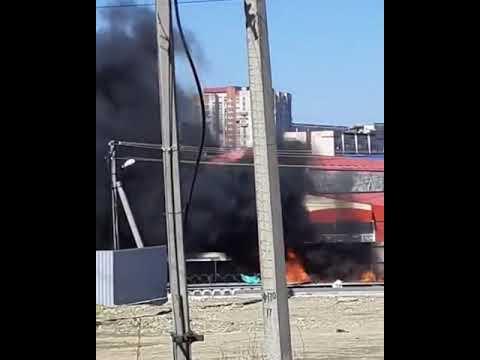 Мусор загорелся на южном рынке в Ставрополе