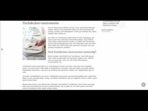 tischdecken gastronomie sind n tzlich und verleihen flair youtube. Black Bedroom Furniture Sets. Home Design Ideas