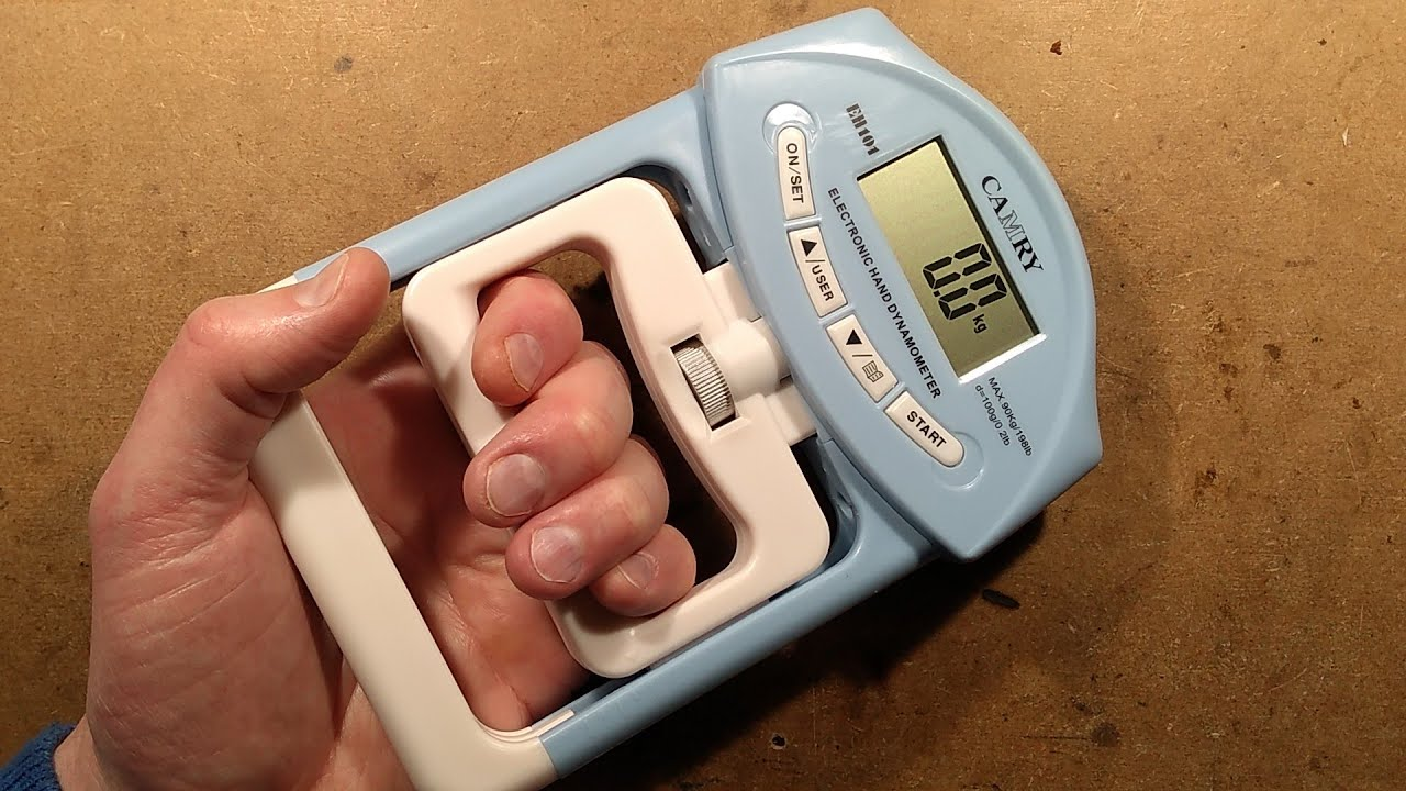 Inside a hand grip strength tester - dynamometer. - YouTube