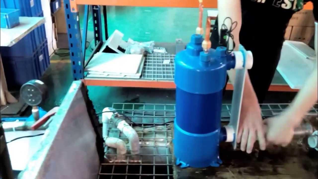Swimming Pool Heat Pump Titanium Heat Exchange Leakage