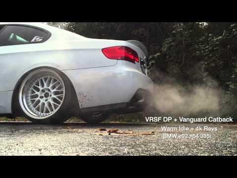 IG@JLIN_E92   BMW n54 e92 335i   VRSF Catless Downpipes   Vanguard V2 Catback Exhaust