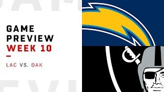 Los Angeles Chargers vs. Oakland Raiders | Week 10 Game Preview | NFL Playbook