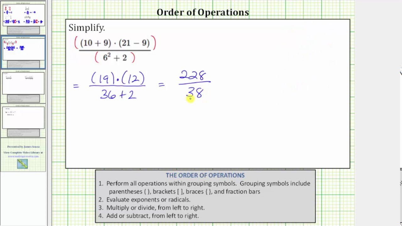 Ex 1 simplify an expression in fraction form order of operations ex 1 simplify an expression in fraction form order of operations biocorpaavc Choice Image