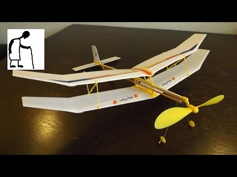 Let's assemble a rubber band powered plane kit