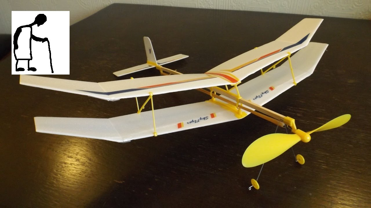 Let S Assemble A Rubber Band Powered Plane Kit Youtube
