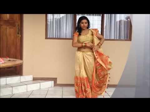 Draping a Mekhla Chador like a Saree   Half-Saree look in Fashion!