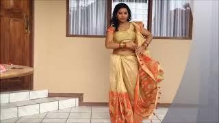 Draping a Mekhla Chador like a Saree | Half-Saree look in Fashion!