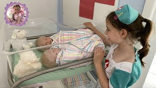 *REBORN HOSPITAL ROLEPLAY* it's TWINS! Nurse Aliyah gets a Special NEWBORN DELIVERY