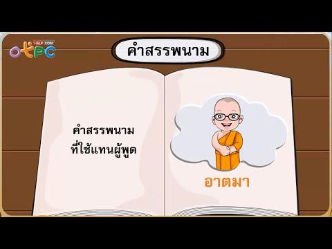 คำสรรพนาม - สื่อการเรียนการสอน ภาษาไทย ป.3