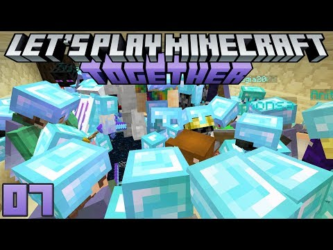 Let's Play Minecraft Together 07 Spangle's Dungeon & 100 Player Dragon Fight!