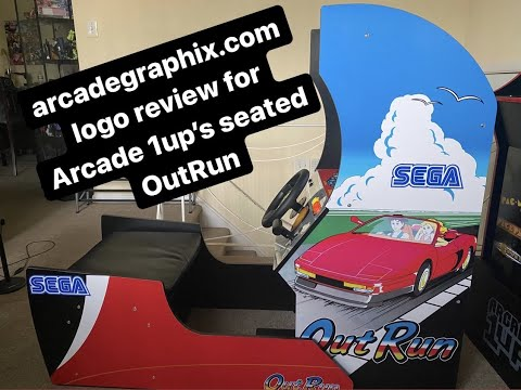 Sega logos for my Arcade 1up Seated OutRun cab from phillysphamous
