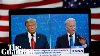 Donald Trump and Joe Biden face off in the final presidential debate – watch live