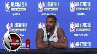 Kyrie Irving reacts to playing with LeBron James, Kevin Durant and Russell Westbrook | ESPN