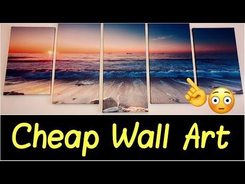 🌅Canvas Wall Art for Office Wall, Living Room, Bathroom | 5 Piece Canvas Wall Art Modern Home Decor