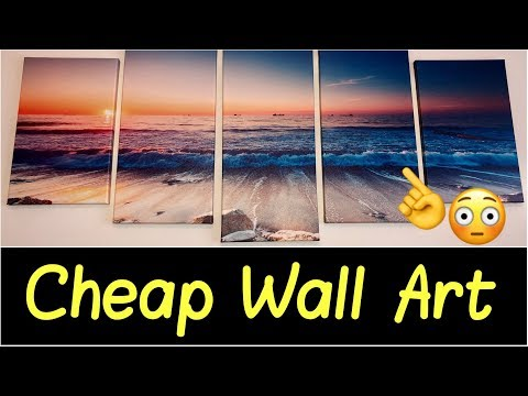 🌅Canvas Wall Art for Office Wall, Living Room, Bathroom | 5 Piece Painting Modern Landscape Decor