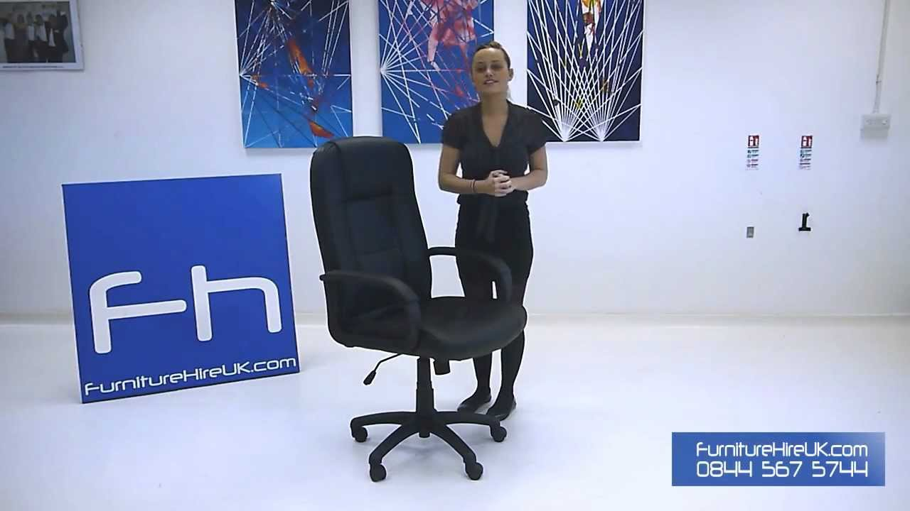 Leather Executive Chair Demo - Furniture Hire UK