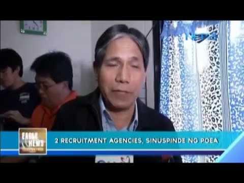 POEA suspends license of two recruitment agencies