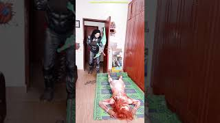 MONSTER vs CHUCKY Scary funny GHOST PRANK try not to laugh TikTok India comedy #DUDEPERFECT NERF BOW