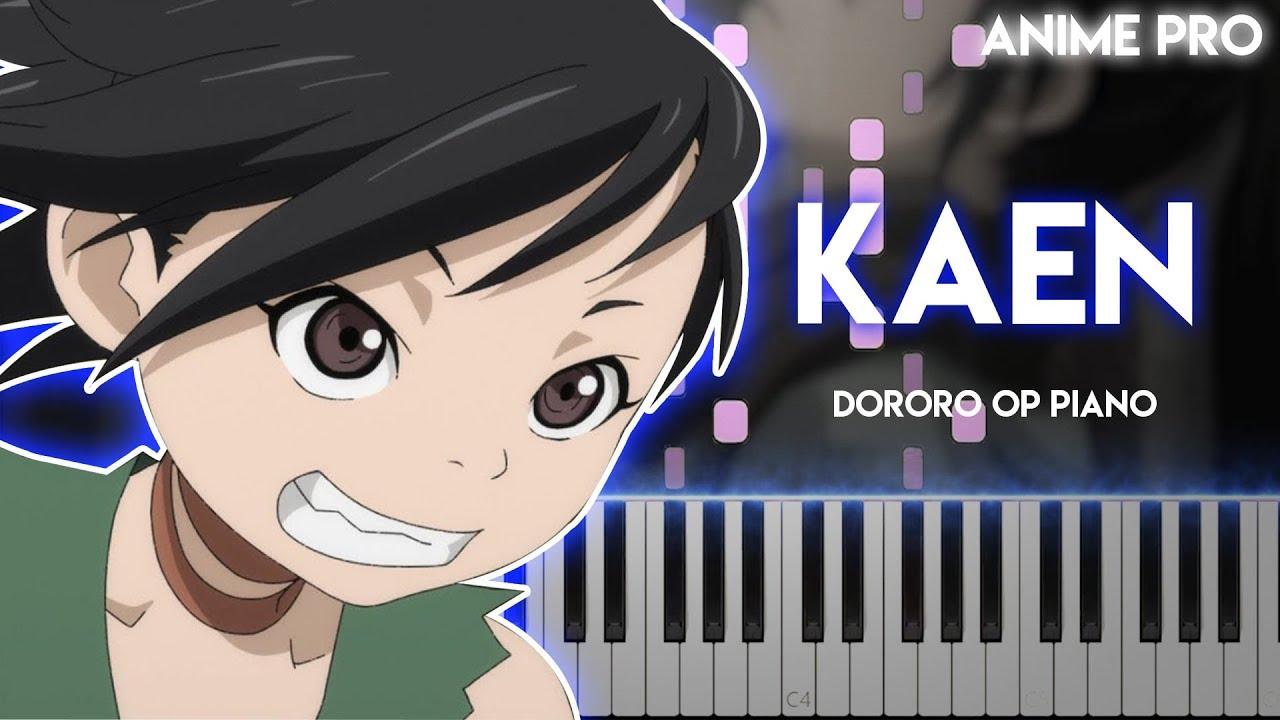 Kaen - Dororo OP (synthesia piano tutorial) Ziyoou-vachi