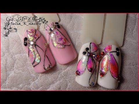 Дизайн ногтей с литьем и жидкими камнями фото