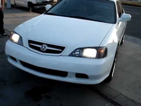 ACURA TL ON 19 INCH 3 PIECES SNOW WHITE PAINT JOB - YouTube
