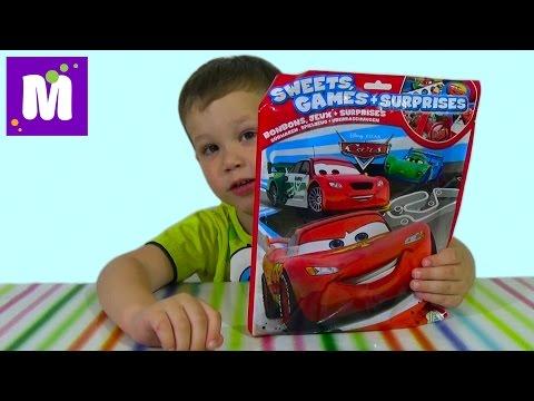 видео: Тачки Дисней пакет с сюрпризом игрой распаковка