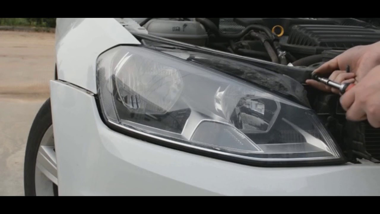 vw golf 7 standard to led headlight installatiom [ 1280 x 720 Pixel ]