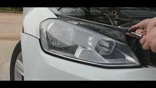VW Golf 7 standard to LED headlight installatiom