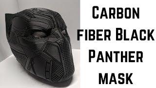 Carbon Fiber Black Panther Mask