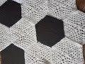 Hexagon Granny Square Fussballdecke häkeln Anleitung DIY