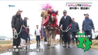 人も馬も熱がこもる、初午祭へ向けた稽古