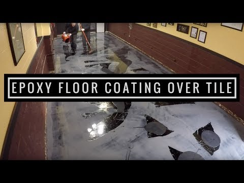 Metallic Epoxy Floor Coating Tutorial Over VCT Tile