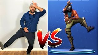 FORTNITE DANCE CHALLENGE in real life with DAD