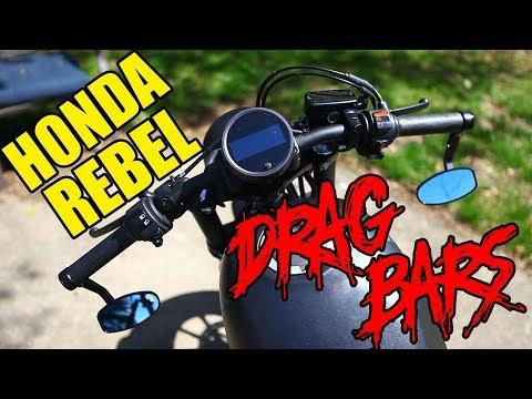 Drag Bar Install Honda Rebel 300 / 500 CMX500