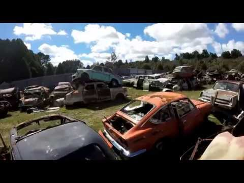 Incredible Wrecking Yard FULL Of Rare Cars! - New Zealand