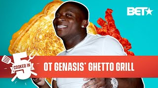 """O.T. Genasis Makes His """"Ghetto Grill"""" Grilled Cheese Childhood Recipe   Cooked In 5"""