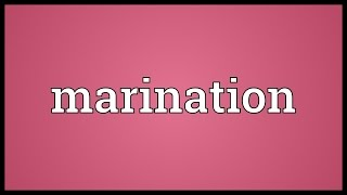 Marination Meaning