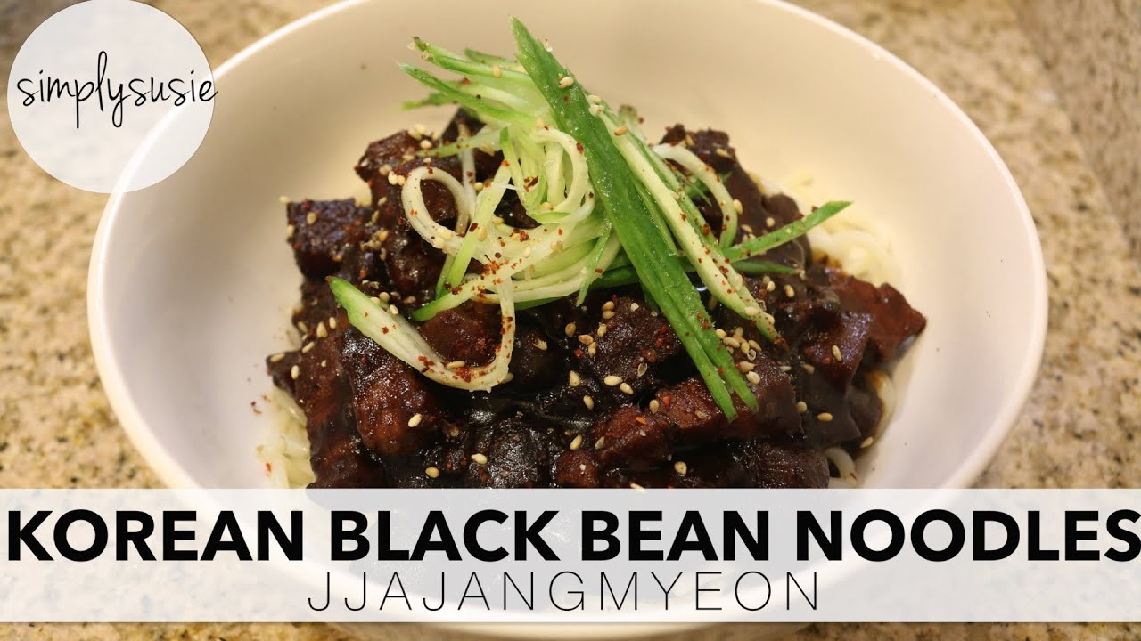 How to make korean black bean noodle jjajangmyeon youtube how to make korean black bean noodle jjajangmyeon forumfinder Choice Image