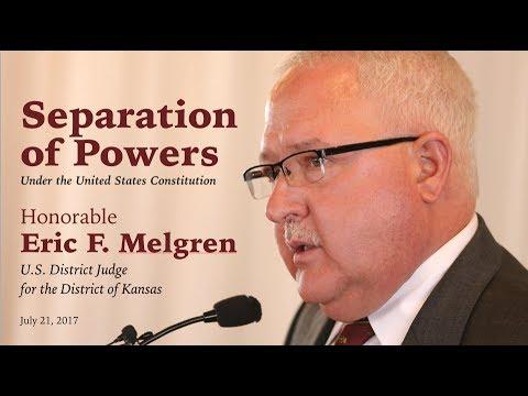 Eric F  Melgren, Separation of Powers