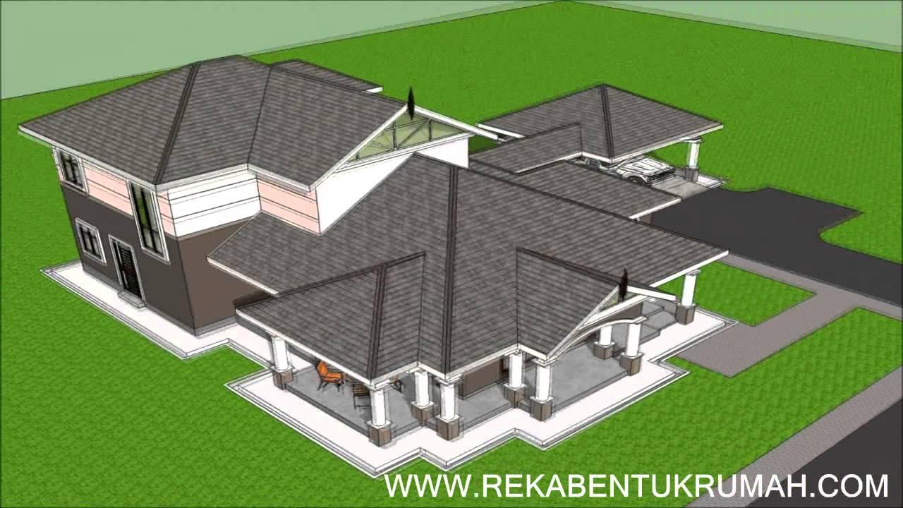 Pelan Rumah E202 Pelan Rumah Banglo 2 tingkat 5 Bilik 4