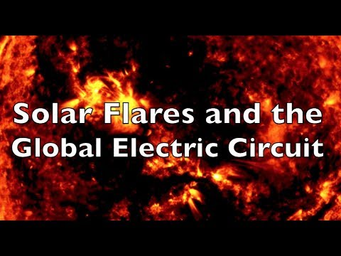 Solar Flares and the Global Electric Circuit