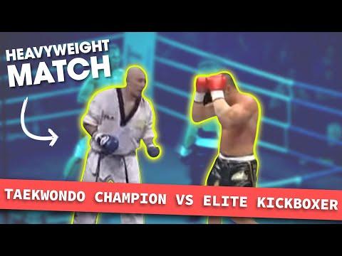 Heavyweight Taekwondo Champion Vs. Elite Kickboxer | Lawrence Kenshin
