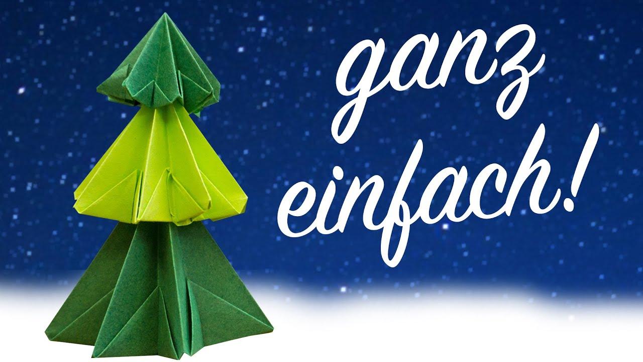 weihnachtsbaum aus papier falten kinderleichte anleitung zum basteln youtube