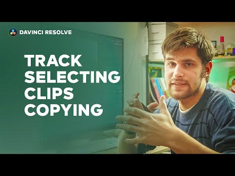 Track Selecting - Clips Copying - DaVinci Resolve *quick tips*