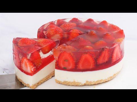 no-bake-strawberry-cheesecake-recipe---how-to-make-a-strawberry-cake