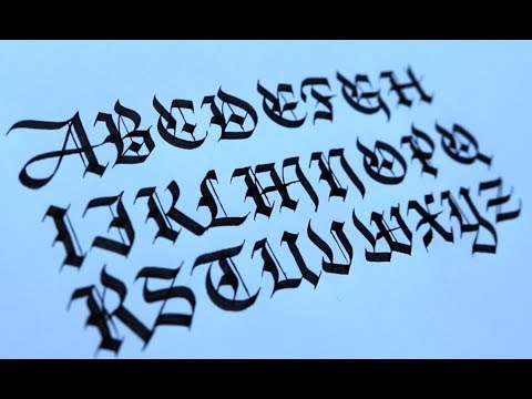 A-Z Blackletter Alphabet | Seb Lester Calligraphy