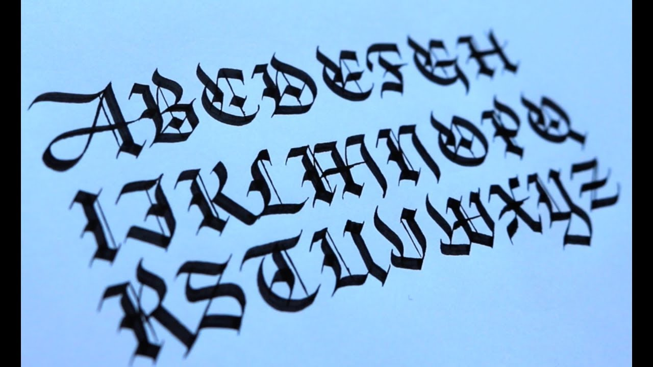 A Z Blackletter Alphabet