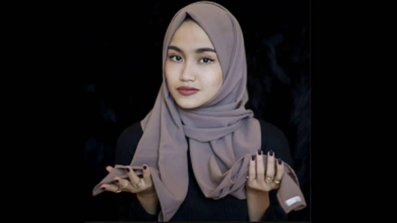 TUTORIAL Cara Memakai Hijab Atau Jilbab PASHMINA SIMPLE SEDERHANA